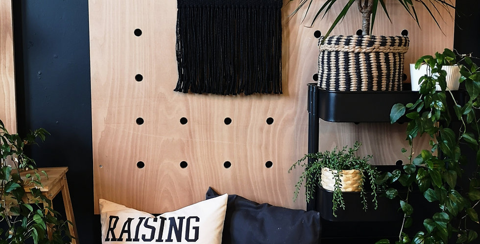 Wooden Ring Woven Wall hanging