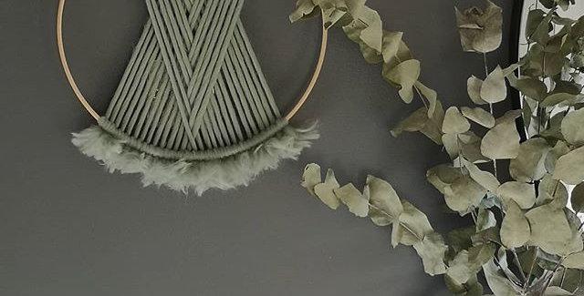 """EUCALYPTUS 12"""" Merino Wool hoop"""