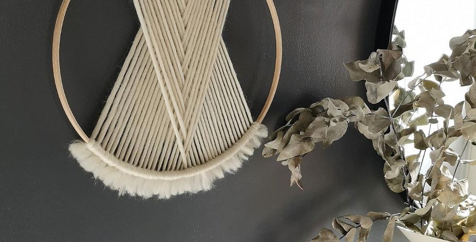 """CREAM 12"""" Merino Wool hoop"""