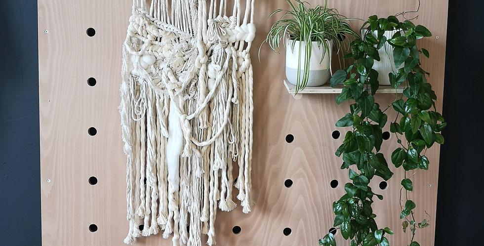 Natural driftwood Macraweave wall hanging