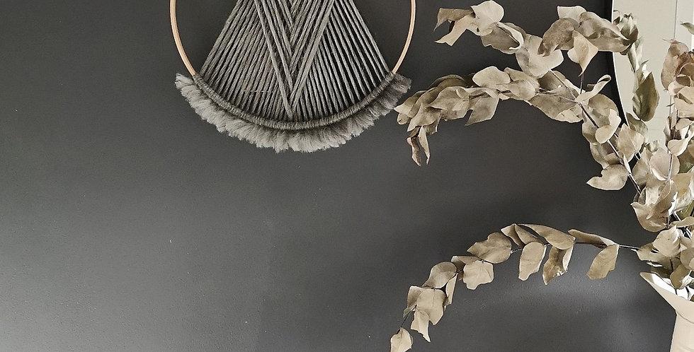 """NATURAL GREY 12"""" Merino Wool hoop"""