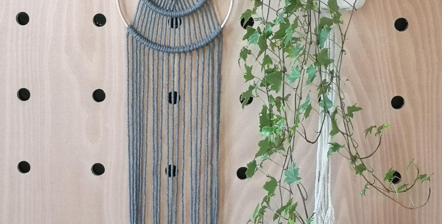 "9""  Grey  rope wall hanging"