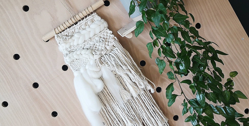 Cotton and Wool Woven Wall hanging