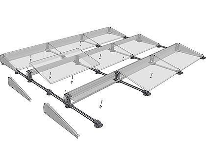 Montagemateriaal zonnepanelen plat dak