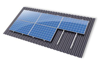 Montagemateriaal zonnepanelen schuin dak