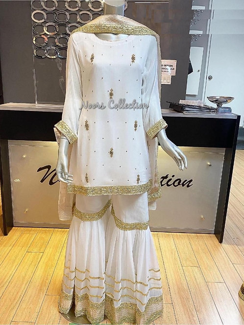 Hand embroidery with gota work outfit