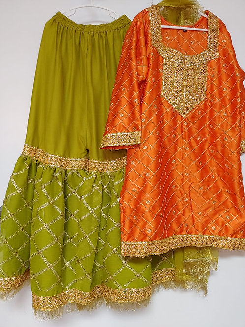 Orange and Dhani Green