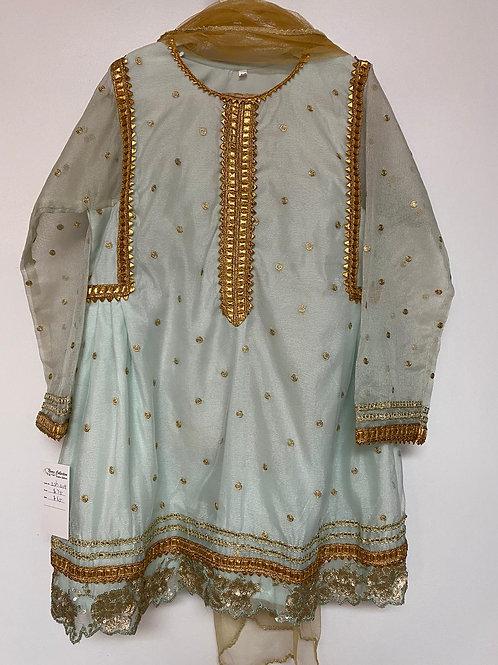 Light Blue Net Dress