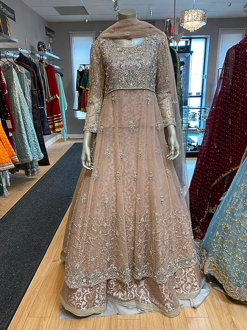 Light Pink Gown Style with Sharara