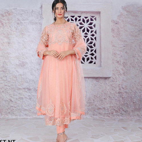 Peach Maxi with Embroidery