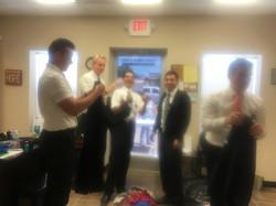 Missionaries volunteering