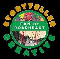 FAN of ROARHEAR logo storyteller creativ