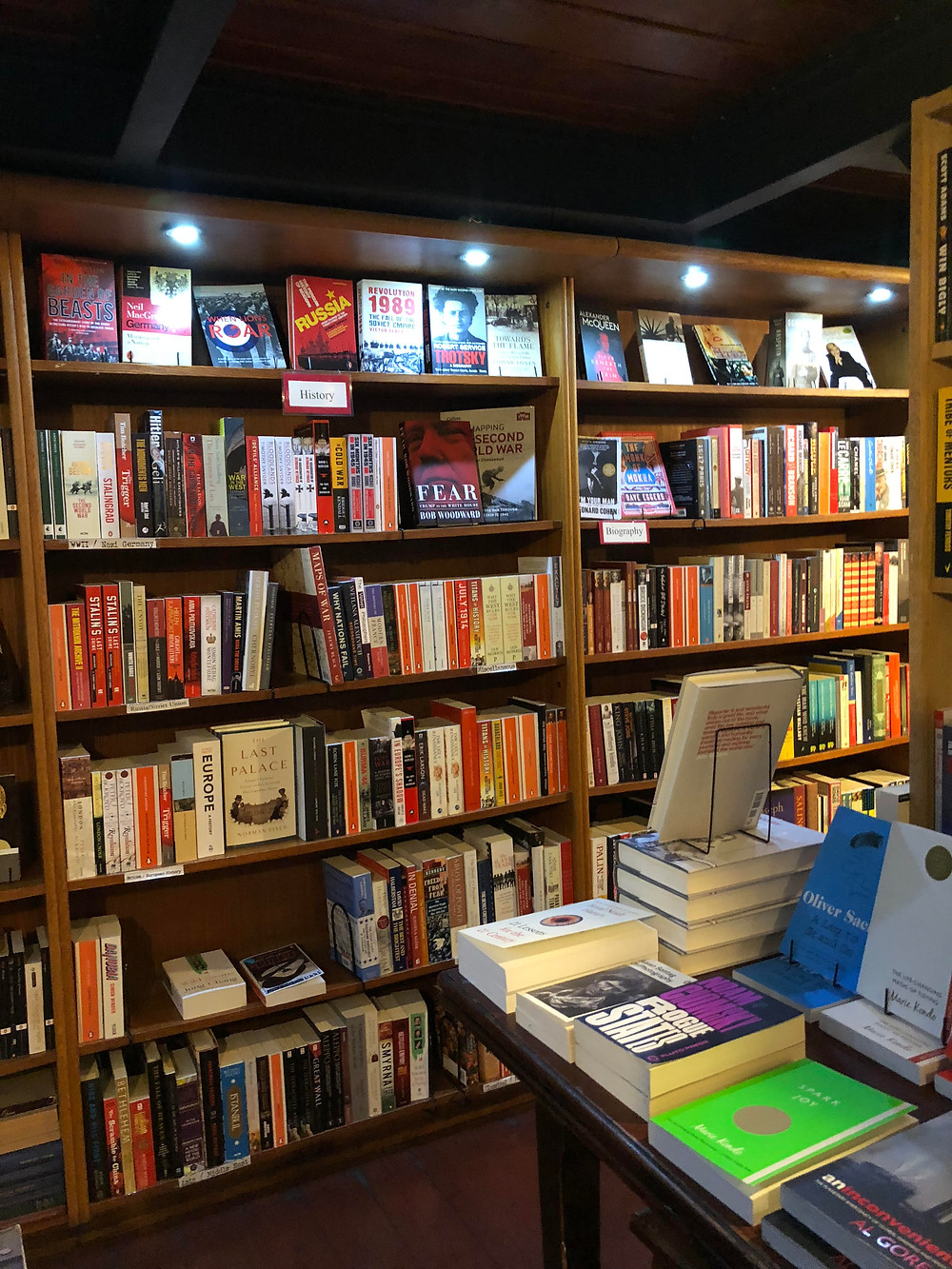 downstairs section of the store