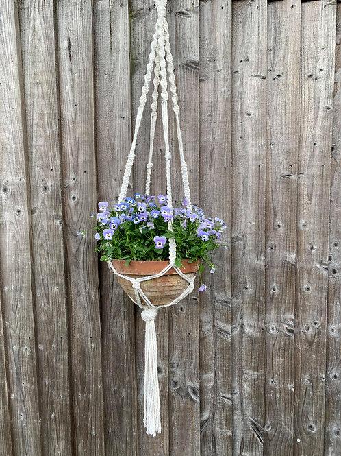 Handmade macrame hanging planter