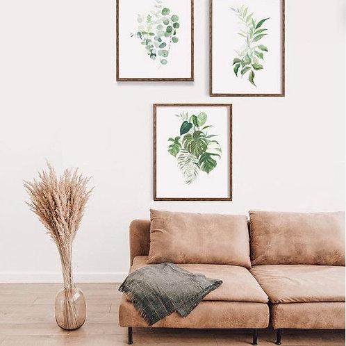 A4 Botanicals Watercolour Print Set