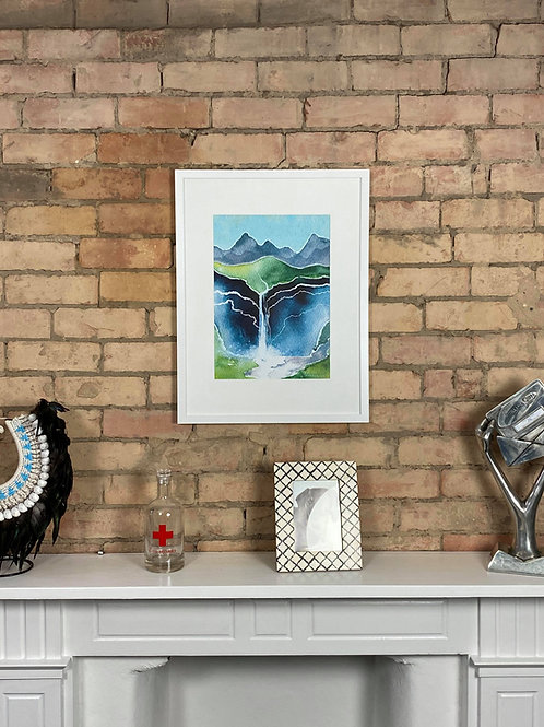 Waterfall A3 Framed print