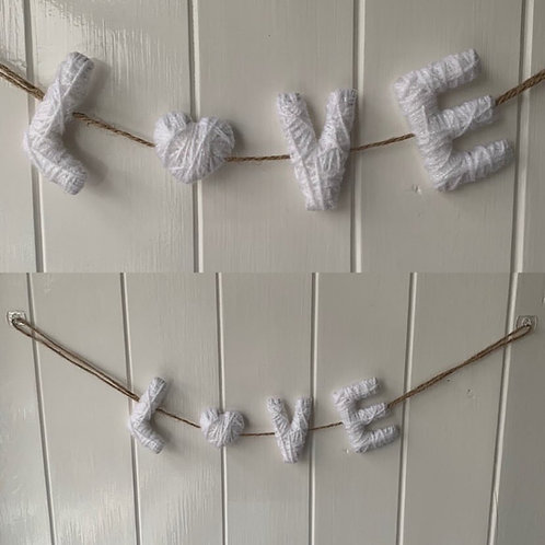 Wool 'LOVE' Letter Sign