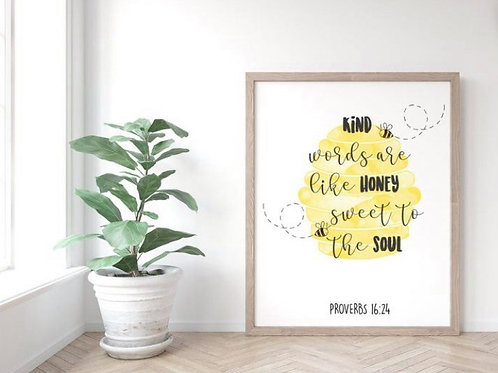 A4 'Words are Like Honey' Print