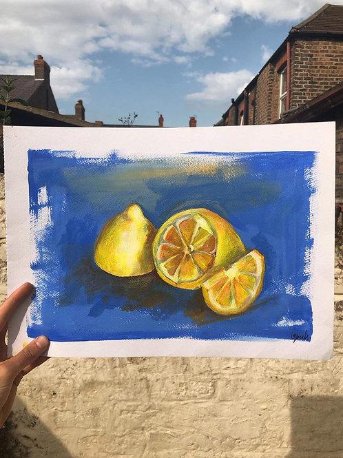 'When Life Gives You Lemons' A4 Print