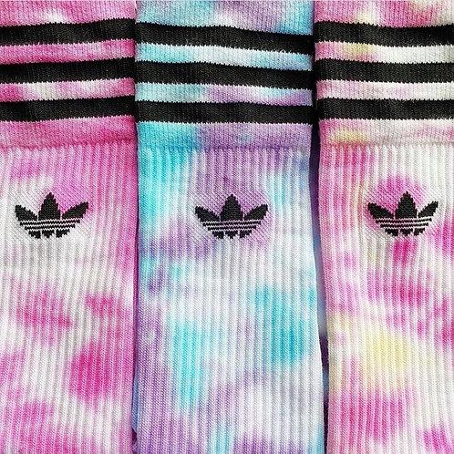 Pink Tie Dye Adidas Socks x 1 Pair
