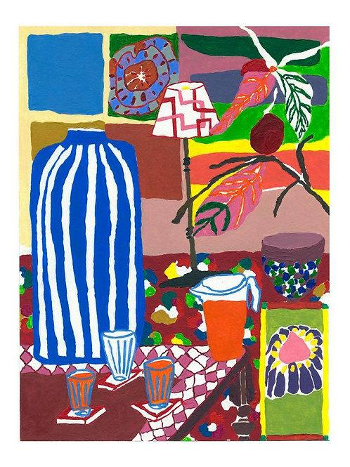 A4 'Big Blue Vase' Print
