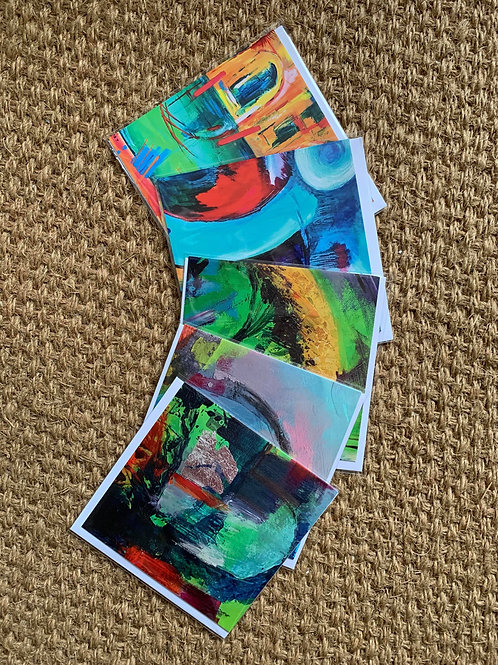 Pack of 5 Acrylic Art Print Cards