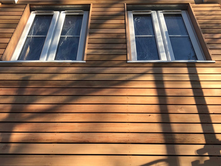 Cedar cladding at Copper Beech is looking great