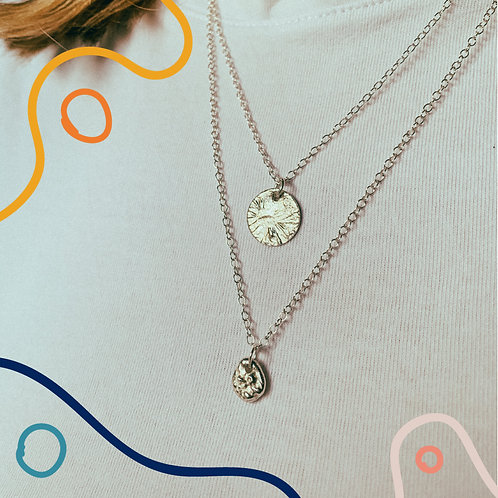 Small Molten Pebble Necklace