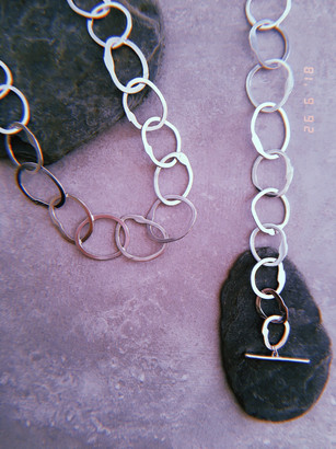 Silver Chain Necklace and Bracelet