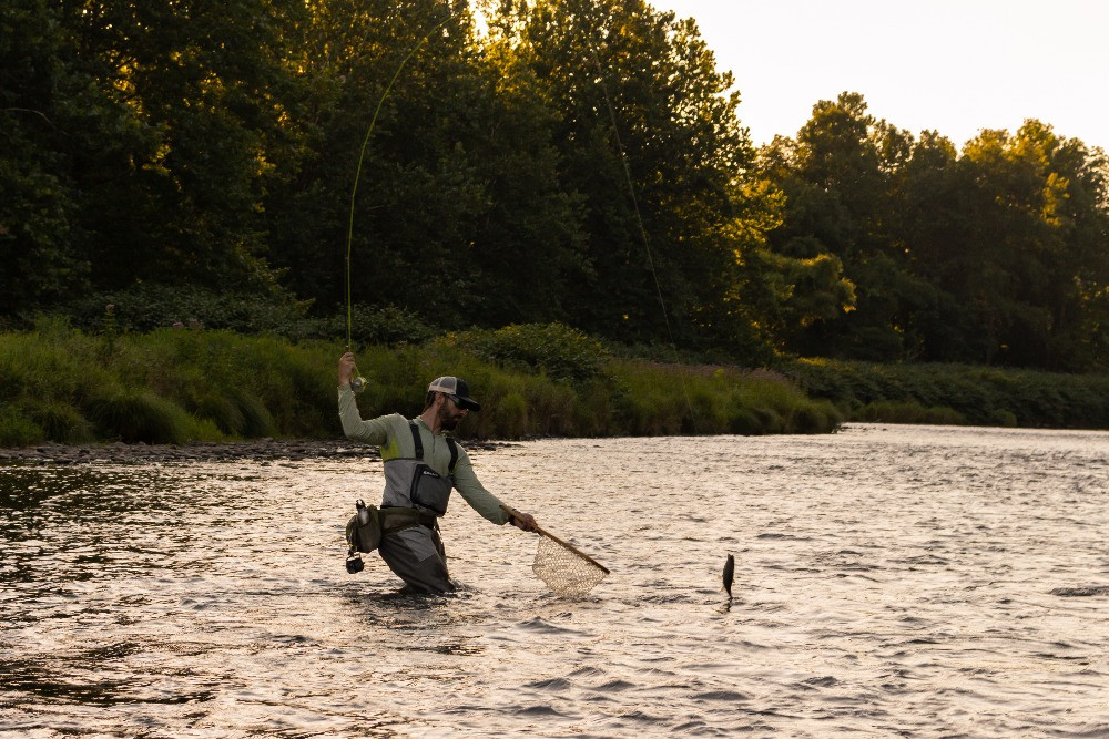 Fly fishing with the 10' 4wt Zone rod