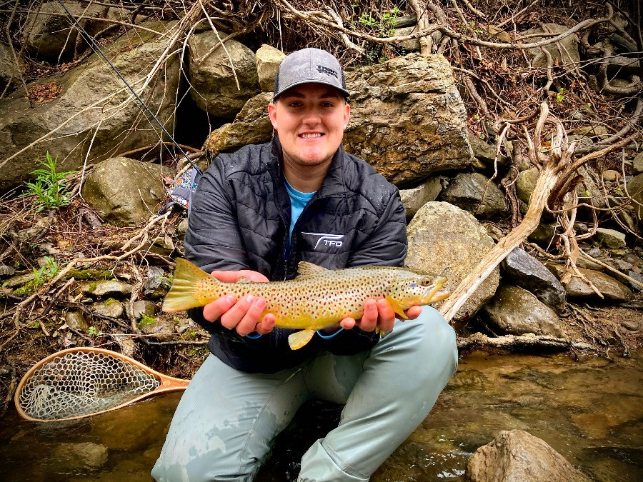 Fly fishing in Central New York during the spring for brown trout