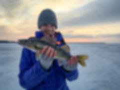 guided ice fishing on Oneida Lake