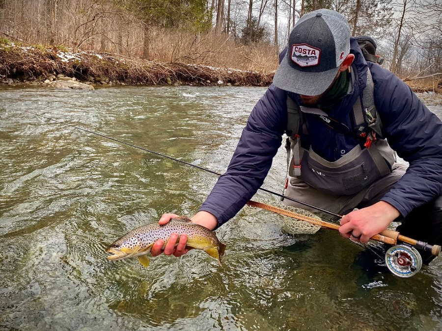 Central New York winter fly fishing