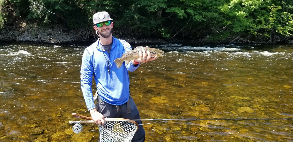 Brian Lansing with a West Canada Creek brown trout