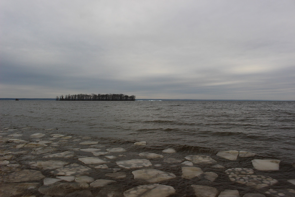 No ice fishing yet on Oneida Lake.  It is all open water, but that should change soon.
