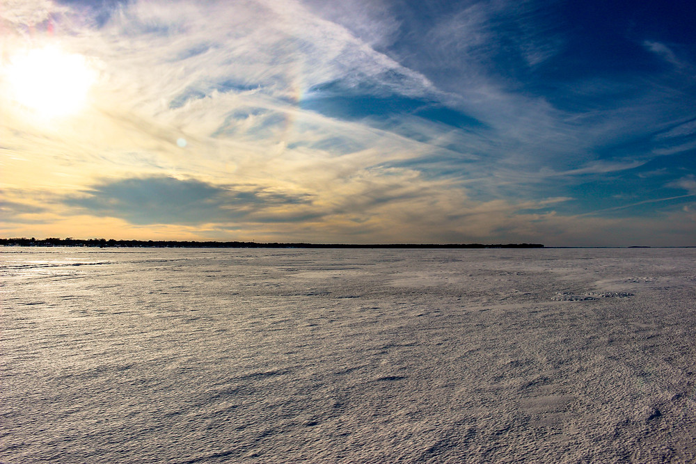 guided ice fishing on Oneida Lake