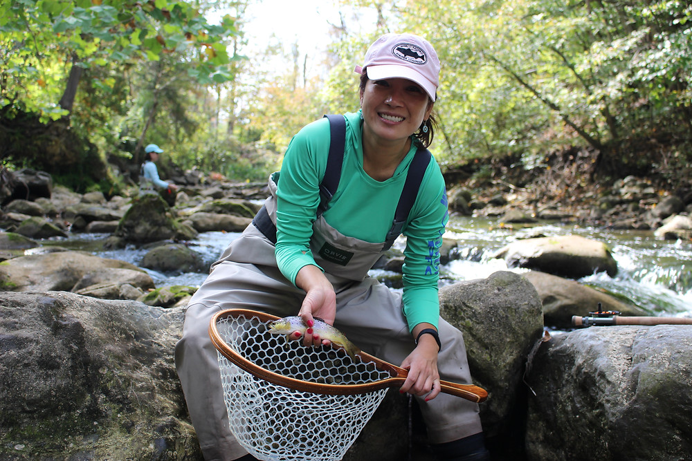 Fly fishing for brown trout in Central New York