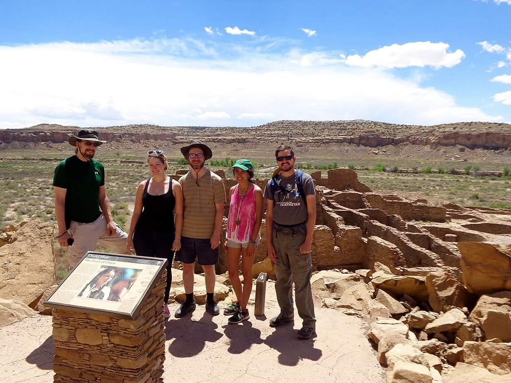 "Adventurers at the ""Heart of Chaco"" Pueblo Bonito"