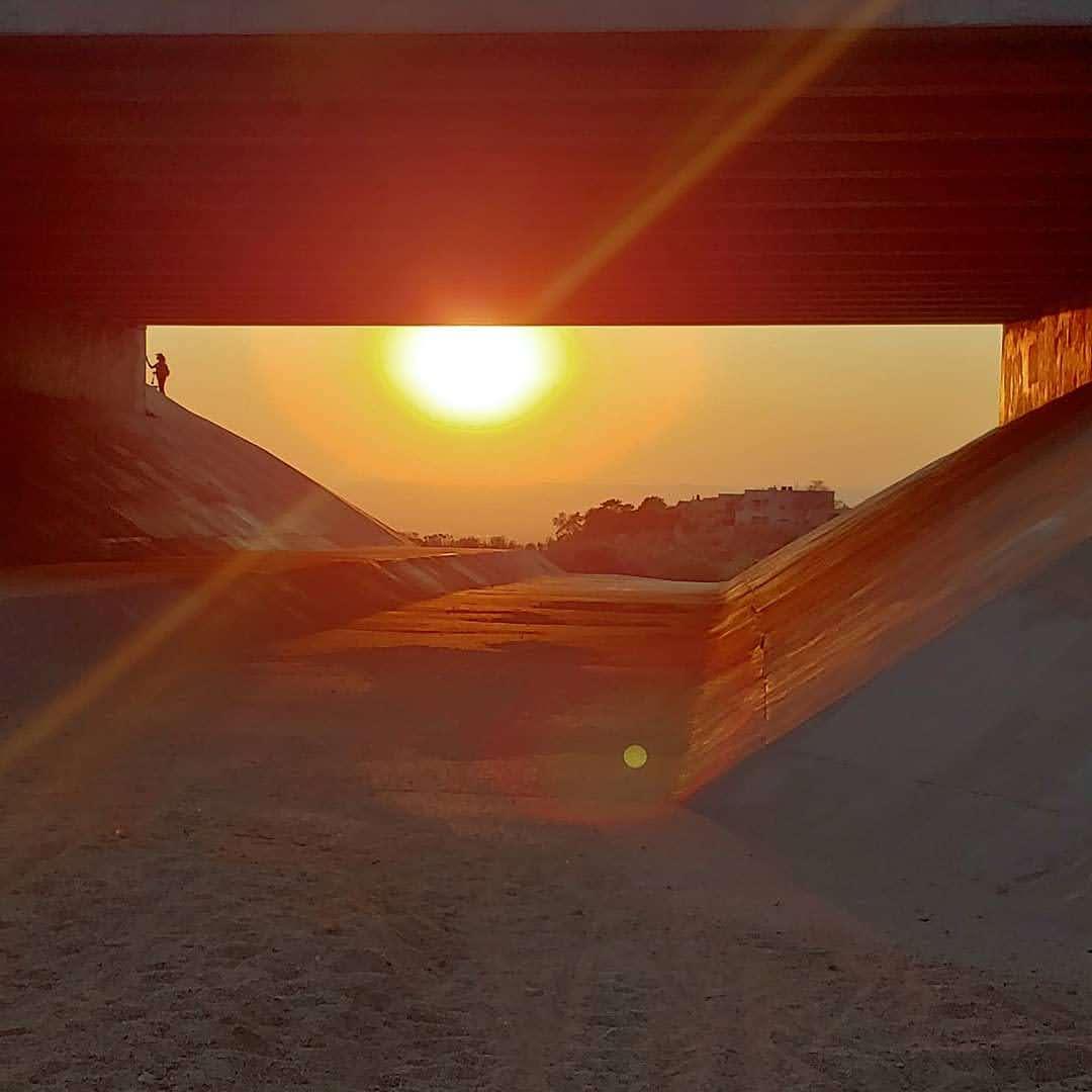 Arroyo sunset, ABQ