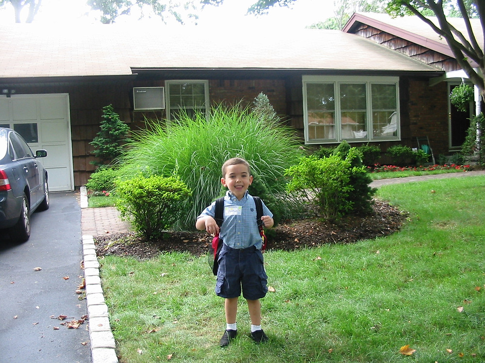 Joshua's first day of kindergarten