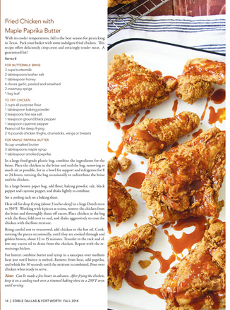 fried chicken with hot maple butter | edible magazine