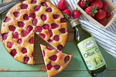 strawberry olive oil cake | sprouts