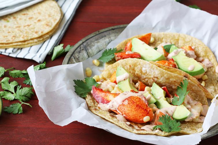 lobster tacos with chipotle crema | cacique