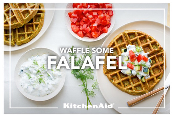 falafel waffles | kitchenaid