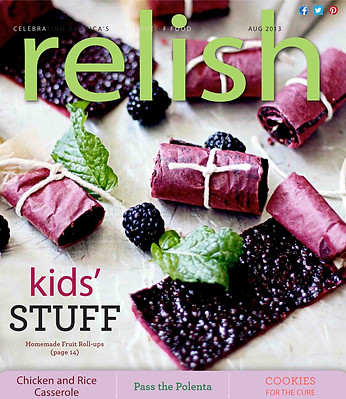 mint and blackberry fruit leather | relish magazine