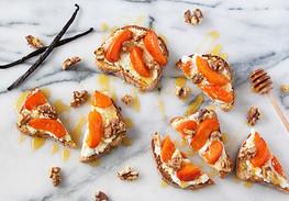 roasted apricot and honeyed yogurt tartine | udi's gluten free