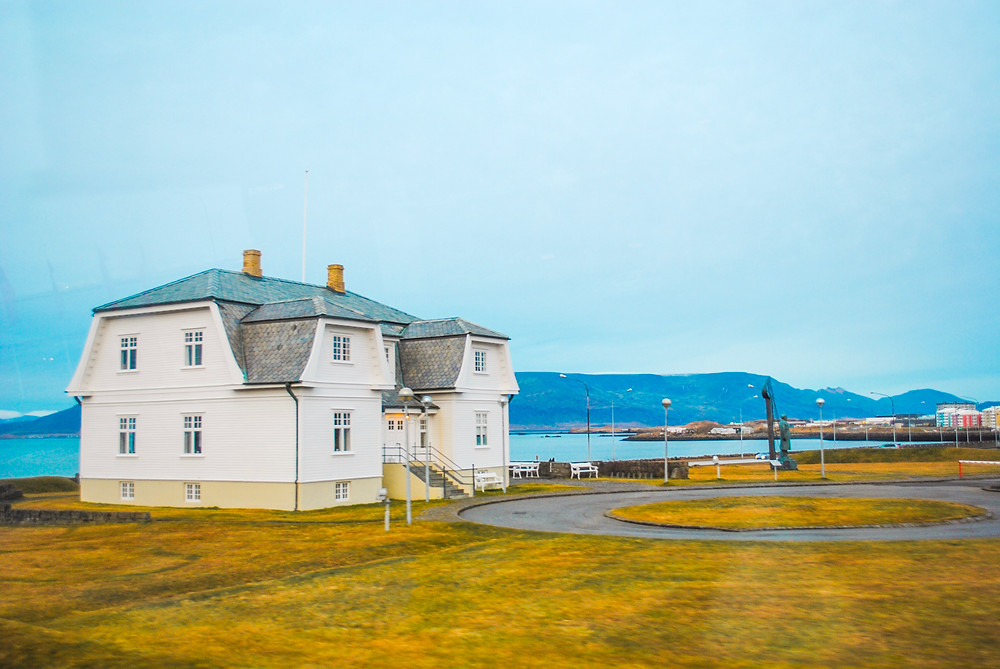 wooden house that was a location for Reykjavik summit and meeting of president Regan and Gorbachev - end of Cold War