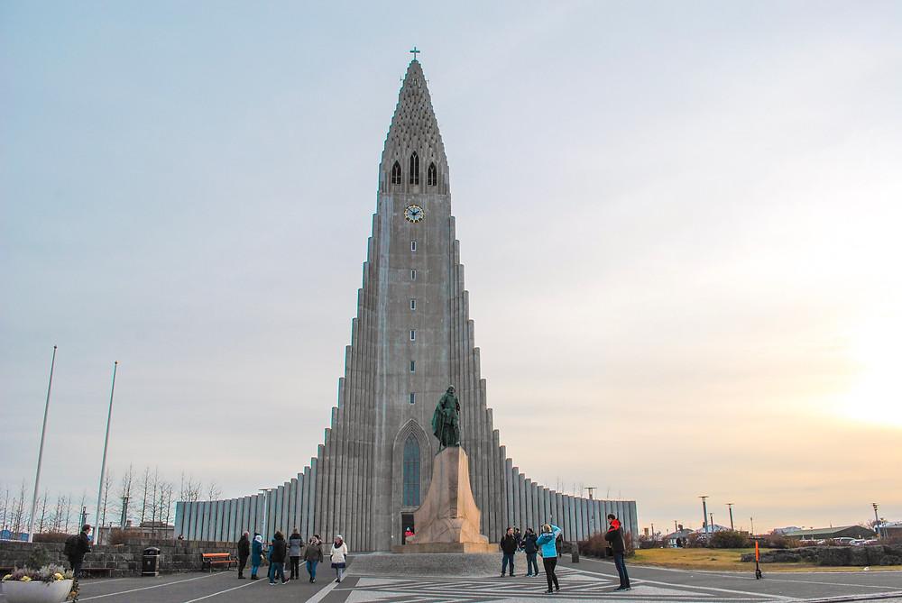 Tall mountain shaped church