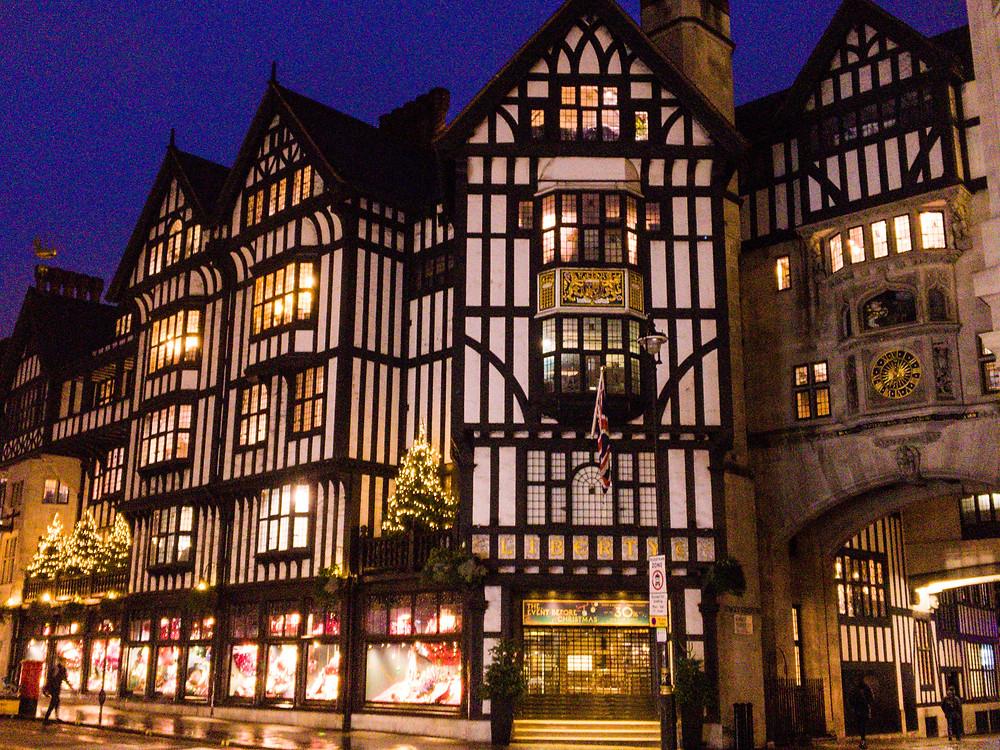 Liberty department store at Christmas