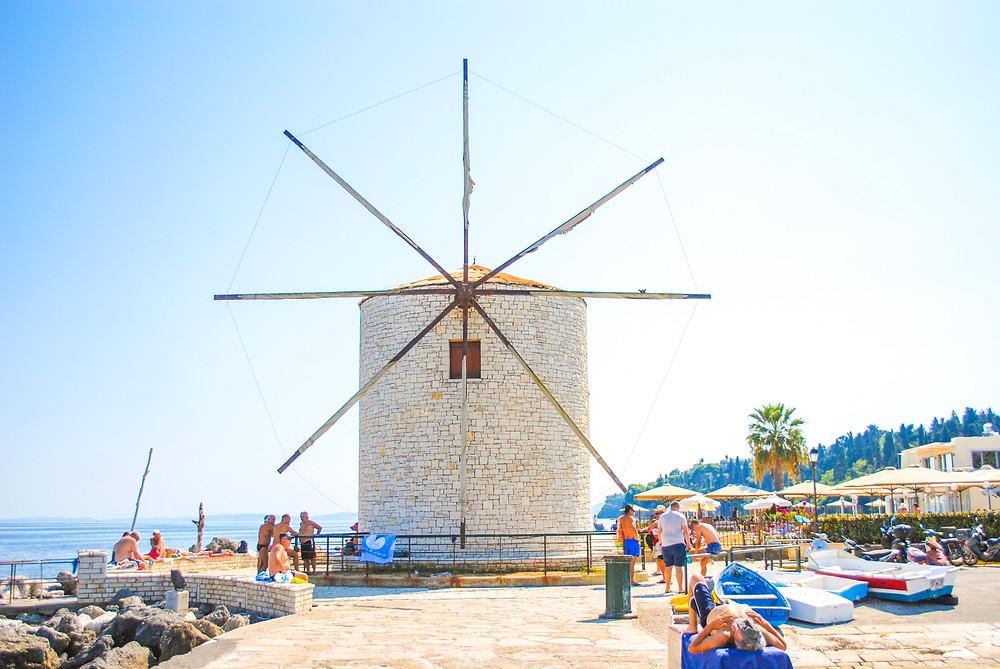 Corfu Town - end of promenade